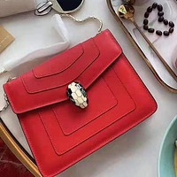Bvlgari hot seller of women's single-shoulder slant bags in solid color High quality Red