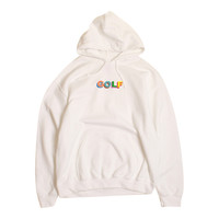 MULTI-COLOR 3D GOLF HOODIE WHITE