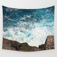 Rough Waters Wall Tapestry by Shiroshi