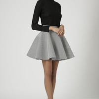 **Scuba Stripe Flared Skater Skirt by Rare - New In This Week - New In