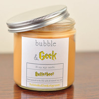 Butterbeer Soy Candle - Harry Potter Inspired - 16 oz. jar