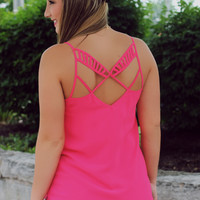 Crossroads Tank - Hot Pink