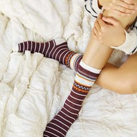 Stripe and Polka Dot Crew Sock Multi-Pack - Urban Outfitters