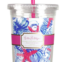 Lilly Pulitzer Tumbler with Straw- She She Shells