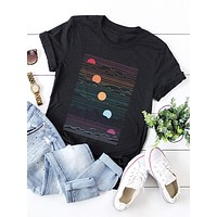 Plus Graphic Print Short Sleeve Tee