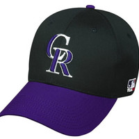 Colorado Rockies (Purple Bill) ADULT Adjustable Hat MLB Officially Licensed Major League Baseball Replica Ball Cap