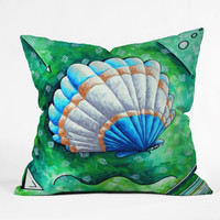 Madart Inc. Sea of Whimsy Sea Scallop 1 Throw Pillow