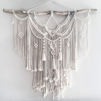 "Large 44""  Macrame Wall Hanging // tapestry // macrame decor // boho decor // wall art // bohemian // Made to order"