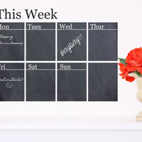 Chalkboard Weekly Calendar Decal