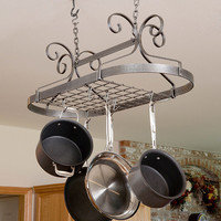 Scrolled Oval Hanging Cooking Rack