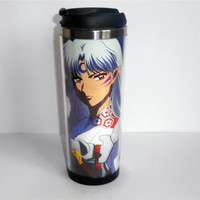 New Diy Mug Inuyasha Sesshoumaru Coffee Cup Stainless Steel Outdoor Travel Cup Water Cup 19 CM 400 ML 14 OZ