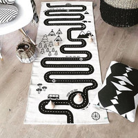 Race Car Mat | Play Mat | Monochrome