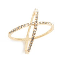 Junior Women's BP. Crystal Crisscross Ring