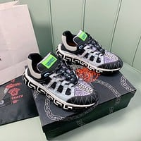 Versace Men's And Women's 2021 NEW ARRIVALS Fashion Sneakers Shoes