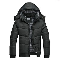 Autumn winter Jackets Men Winter Jacket Arrival Casual Slim Cotton With Hooded