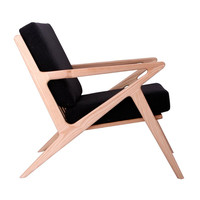 Jet Accent Chair BLACK - NATURAL