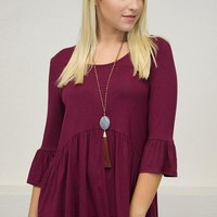 Solid Bell Babydoll Top | Colors