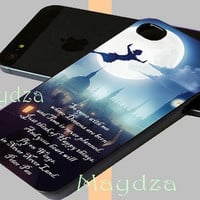 Peter Pan Quote for iphone case, iphone 4 case, iphone 5 case, samsung galaxy, galaxy s4 case, Galaxy S3 Case