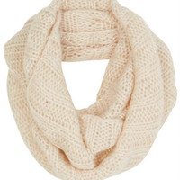 Infinity Cable Lurex® Knit Scarf