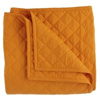 The Land of Nod   Kids Blankets: Orange Quilted Blanket and Sham in Quilts & Blankets