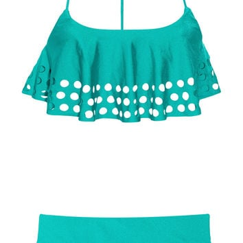Zimmermann | Clique perforated tankini | NET-A-PORTER.COM