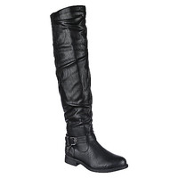 Shiekh Pita-30 Womens Black Thigh High Boot [ Shiekh Shoes