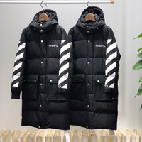 OFF White Women & Men  Cardigan Jacket CoatDown Jackets