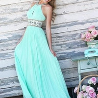 Women Formal Sleeveless Long Maxi Dress Prom Evening Party Cocktail Bridesmaid [9819246927]