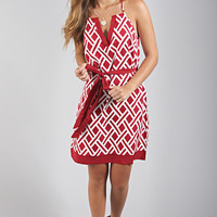 game day rb dress - red