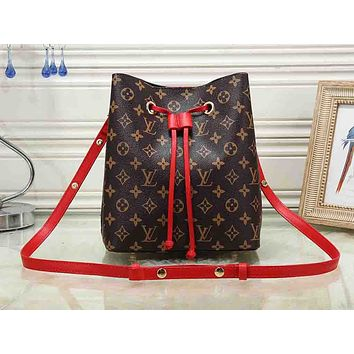 LV hot selling lady's casual shopping bag fashion printed bucket shoulder bag #1