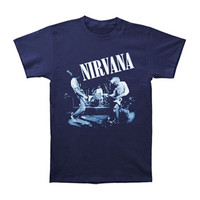 Nirvana Men's  Live Photo T-shirt Blue