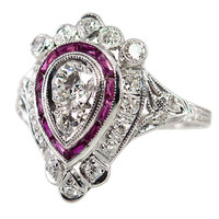 Very Regal Diamond and Ruby Ring