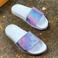 Louis Vuitton LV New Ladies Gradient Casual Slippers Shoes