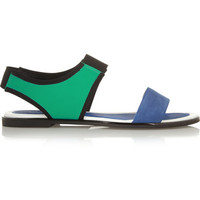 KENZO | Color-block leather and neoprene sandals | NET-A-PORTER.COM