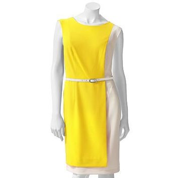 AB Studio Colorblock Sheath Dress