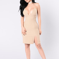 Know Your Enemies Dress - Taupe