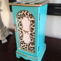 Vintage Jewelry Box Upcycled Hand Painted And Decoupaged Victoria's Secret Inspired