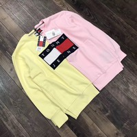 Tommy Jeans Fashion Print Round Neck Top Sweater Pullover Sweatshirt