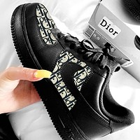 Hipgirls Nike air force 1 x Dior Women Men Sneakers Classic Shoes Black