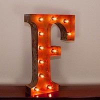 """24"""" Letter F Lighted Vintage Marquee Letters with Screw-on Sockets"""