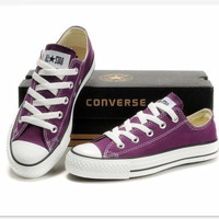 """Converse"" Fashion Canvas Flats Sneakers Sport Shoes Low tops Purple"