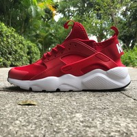 Nike Air Huarache 4 Rainbow Ultra Breathe Men Women Hurache Red/white Running Sport Casual Shoes Sneakers 117