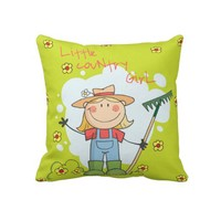 Little Country Gil Throw Pillows from Zazzle.com
