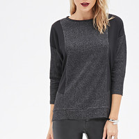 Speckled Chiffon-Paneled Top