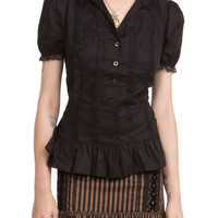 Spin Doctor Black Arabella Shirt | Hot Topic