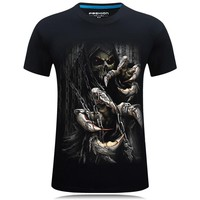 Graphic 3D T-shirt Print Fashion Short Sleeve Tee Tops S-6XL