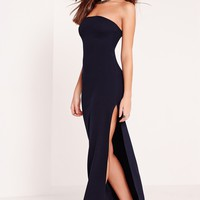 Missguided - Bandeau Maxi Dress Navy