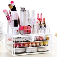 Homdox Acrylic Cosmetic Organizer Drawer 3 Tiers Makeup Case Storage Insert Holder Box Domestics Delivery #20