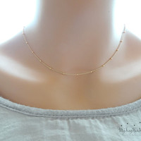 Rose Gold Necklace Rose Gold Chain Necklace by MyTinyStarShining