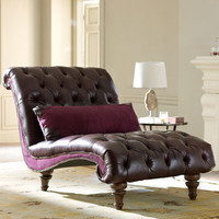 """Old Hickory Tannery - """"Tawny Port"""" Chaise - Horchow"""